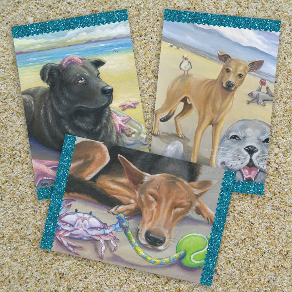 A Day at the Beach Postcards by Sonya Andrews